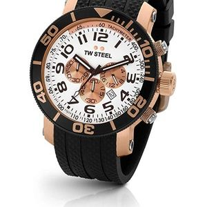 TW Steel Mens Grandeur Rubber Casual Men's Watch